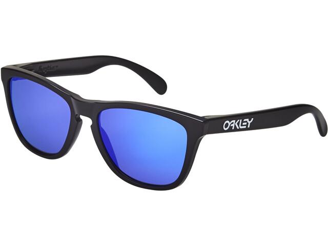 Oakley Frogskins Pyöräilylasit, matte black/violet iridium